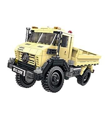 Modbrix Bausteine LKW Unimog, Konstruktionsspielzeug, 490 Teile.