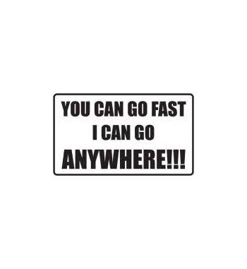 Auto-Aufkleber: You can go...