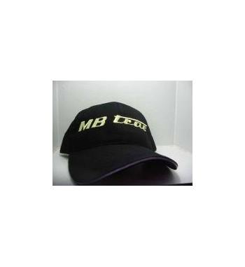 Mütze / Basecap MB-Trac schwarz mit hellgrünen Schriftzug.