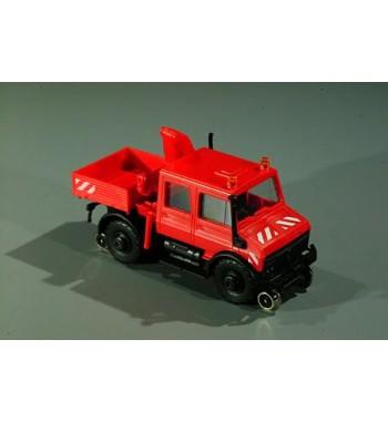Roco 1:87 Unimog U 1700L Zweiwege DK mit Kesselwagen