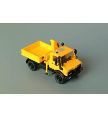 Roco 1:87 Unimog U 1300L mit Kran gelb