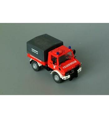 Roco 1:87 Unimog U 1300 Pritsche Plane Feuerwehr Linz